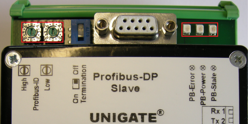 Datei:UNIGATE CO(M) - ProfibusDP (Frontal Top) rotary coding switches & LEDs.png